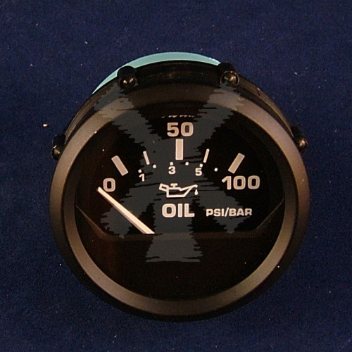 FARIA OIL PRESSURE GAUGE 100PSI BLACK (US)
