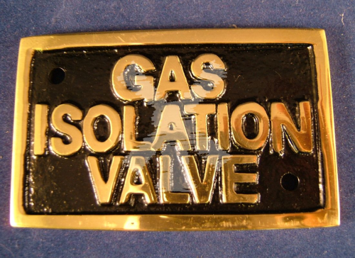 BRASS LABEL GAS ISOLATION VALVE