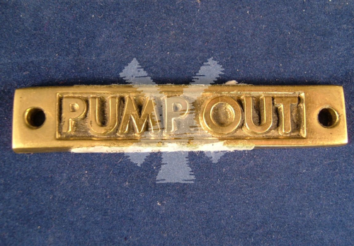 BRASS LABEL PUMP OUT OBLONG