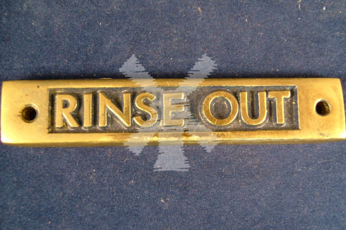 BRASS LABEL RINSE OUT OBLONG
