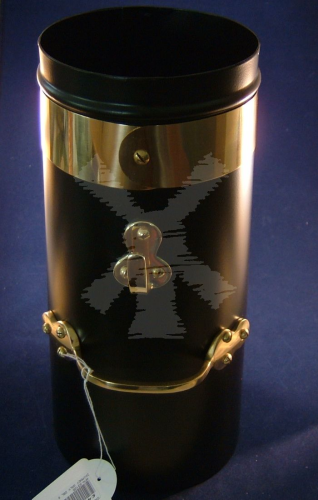 "CHIMNEY BLACK AND BRASS DOUBLE SKIN 6""X18"""