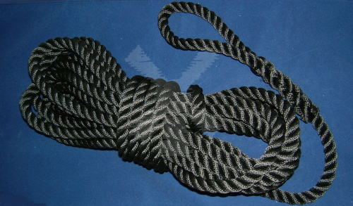ROPE 16MM X 12M WITH EYE BLACK
