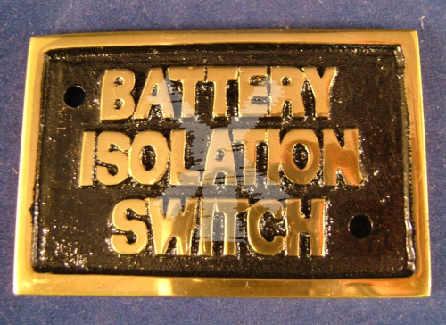 BRASS LABEL BATTERY ISOLATION SWITCH